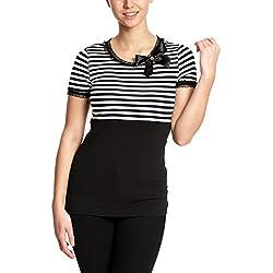 Pussy Deluxe Stripey Camiseta Mujer negro-blanco