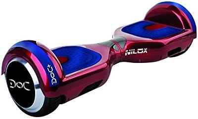 Nilox Hoverboard Doc Plus con Bluetooth y Certificación UL 2272, Unisex adulto, Doc Plus Ul 2272, rojo
