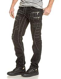 BLZ jeans - Jean homme street noir zips et passants