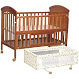 Mee Mee Baby Wooden Cot, Brown