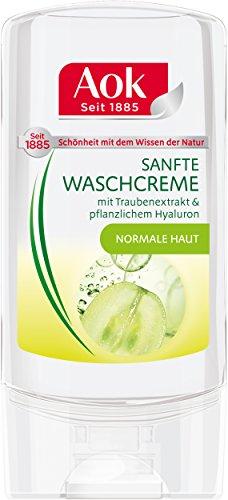 Aok Waschcreme mit Traubenextrakt und pflanzlichem Hyaluron, 1er Pack (1 x 150 ml)