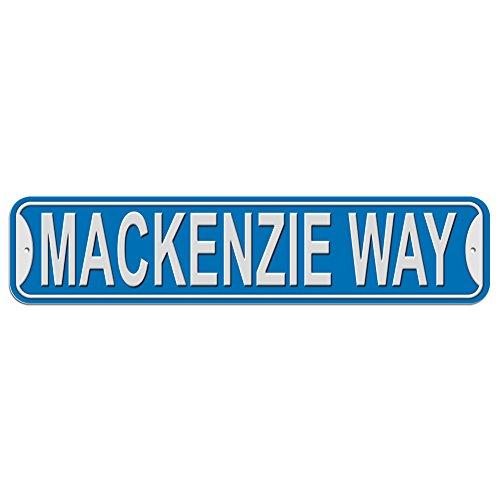 Mackenzie Schild–Kunststoff Wand Tür Street Road weiblich Name, plastik, blau, Way