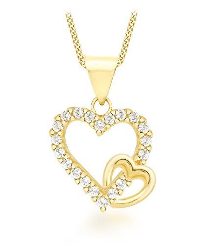 Carissima-Gold-Halskette-mit-Doppelherz-Anhnger-Gelbgold-375-Zirkonia
