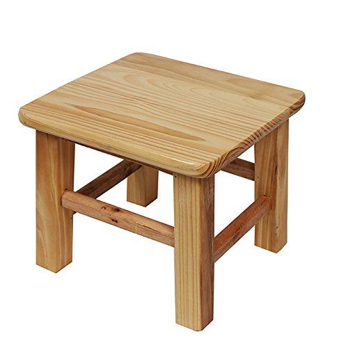 WSGZH Hocker aus massivem Holz für Erwachsene, Kinderzimmer, Retro-Stil, quadratisch, kleine Bank/Wohnzimmerbank/Küchen-Tritthocker, 30 x 30 x 35 cm Style-2