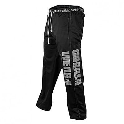 Gorilla Wear Logo Meshpants Black schwarz - Bodybuilding und Fitness Hose für Herren
