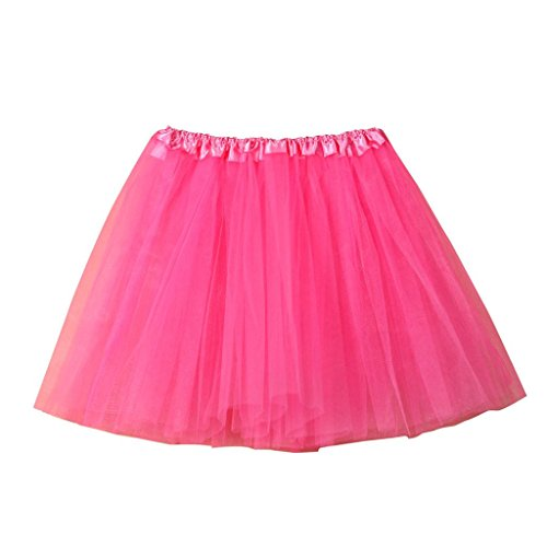 HUIHUI Damen Tütü Rock Minirock Organza Pettiskirt 3 Layers Petticoat Tanzkleid dehnbaren informell Mini Skater Rock Ballettrock mit Sternchen Perfekt für Fasching ()