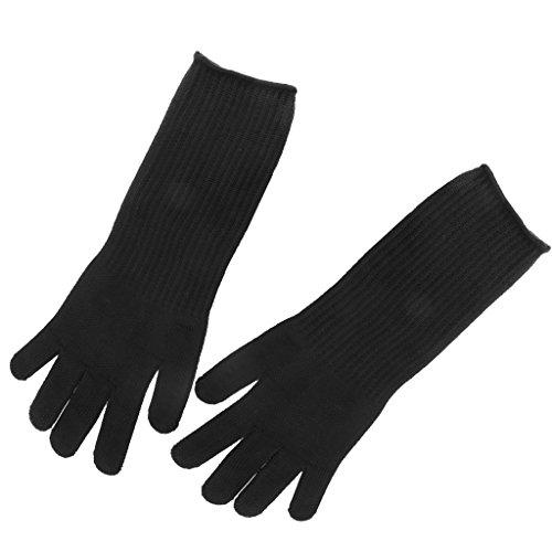 Sharplace 2x Gants Protège-mains Coupures Résistante Travail en Coton PVC Longs Polyester