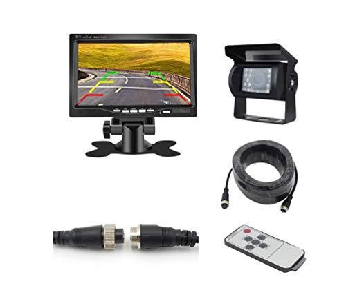 AS-CAM Bus-LKW-Anhänger-Kamera und Monitor-Kit, 24V HD, die Bild-LKW-Bauernhof-Erntemaschine-Schulbus aufheben Kit 24v Cam