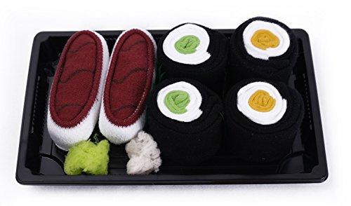 Calcetines del Sushi, 3 pares de calcetines: Maki de Pepino, Maki de Oshinko, Atún, Traordinario Regalo, Fabricado en EU, ex Tallas EU 41-46, Más alta Calidad, Idea Original