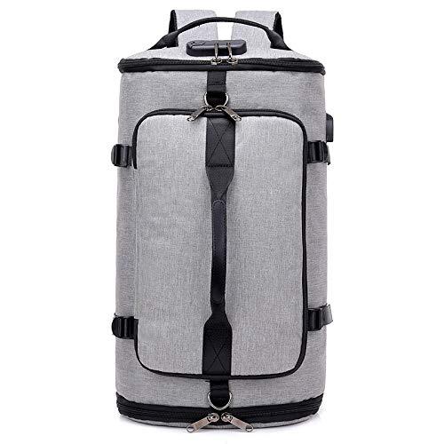 Sport Gym Reisetasche, Trocken Nass Getrennt Schwimmen Kit Bag Wasserdichte Tasche Reisetasche für Männer und Frauen Große Kapazität, grau