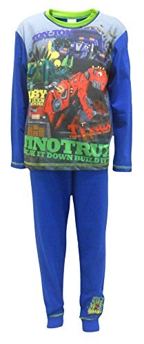 Dinotrux Dinosaurier Trucks Jungen-Nachtwäsche Schlafanzug 7-8 Jahre (Dinosaurier-nachtwäsche)