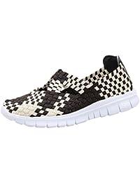 Mocasines de Malla Sandalias para Mujer, QinMM Zapatillas Respirable Transpirables Zapatos de Verano Merceditas Deportes