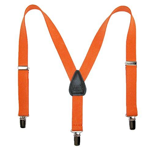 CTM - Bretelles - Garçon taille unique Orange