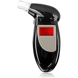 Testeur d'alcool Embout buccal de remplacement LCD numérique Rétro-éclairage Porte-clés Analyseur d'haleine