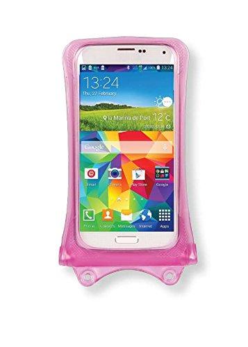 ZTE Open L, Prestige 2, Tempo Go Handyhülle/Handytasche - wasserdicht - Pink (Doppel-Klettverschluss, IPX8-Zertifizierung zum Schutz vor Wasser bis 10 m Tiefe)