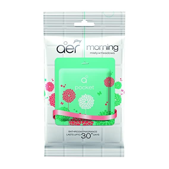 Godrej Aer Pocket Bathroom Fragrance - 10 g (Morning Misty Meadows)