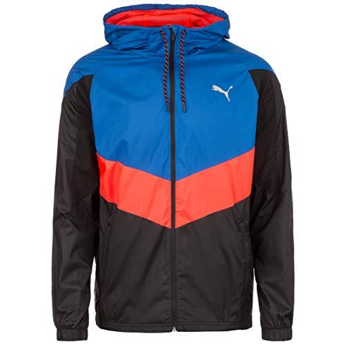 PUMA Herren Reactive WVN Jacket Trainingsjacke, Galaxy Blue Black-NRGY Red, XXL