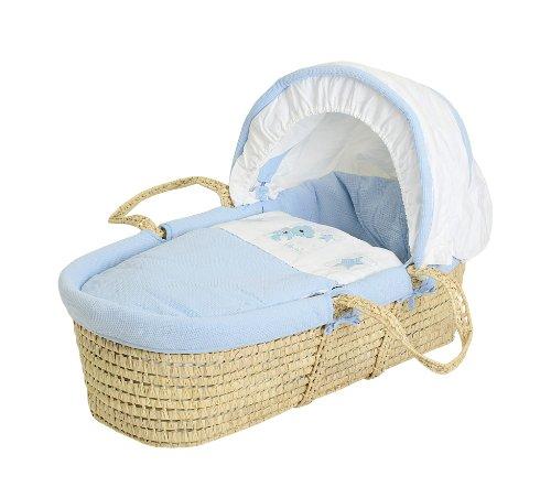 Baby elegance, cesta in vimini per neonati, blu