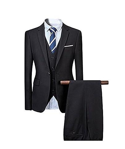 Herren Anzug Hochzeit Anzüge 3-Teilig Sakko Hose