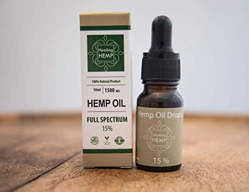 1500mg Full Spectrum Hemp Oil 10ml -Made From Seeds, Leaf & Stem  Known to  Help Relieve Pain, Anxiety & Stress - Vegan -100% Natural