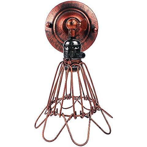 Luz Vintage Retro, Vintage jaula lámpara de pared, lámpara de pared Birdcage, Modern Industrial ligero de la pared, Edison rústica jaula lámpara de pared, luces de pared de cobre con el tipo E27