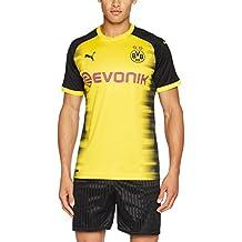 Puma BVB Internacional Temporada 2017/2018 Camiseta de Fútbol, Hombre, Amarillo, ...