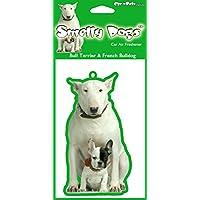 French Bull Terrier/Bulldog Air freshener Deodorante ogni x 4 pezzi confezionati singolarmente, adatto per auto, casa o Caravan.