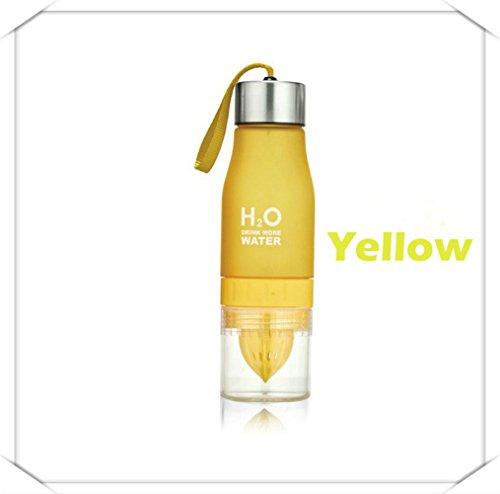 tstoff Trinkflasche H2O Obst Infusion Flasche Infuser Wasser trinken, Outdoor, tragbare Sport mit Zitrone, Gelb ()