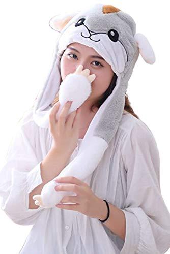 Hamster Kostüm Für Kinder - MingoTor Beweglicher Ohr-Hamster-Hut, Plüsch Stirnband Halloween