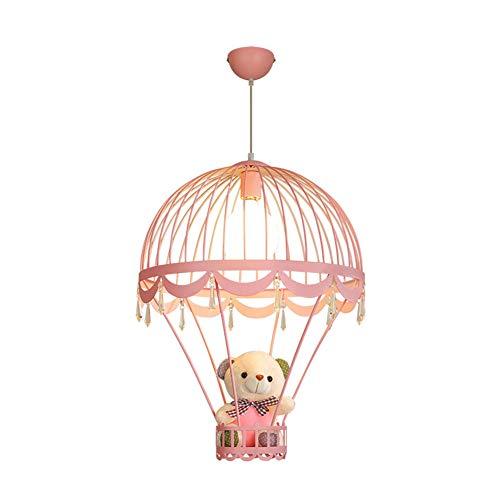 ZRR Kinder Deckenleuchten Schlafzimmer Lampe, Cute Bear Schlafzimmer Kronleuchter Fairies Schlafzimmer Kronleuchter Pink Princess Room Illumination, 44 x 60 cm