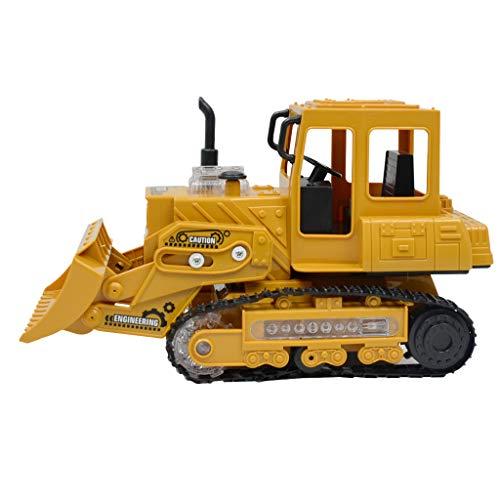 Fenteer 4-Kanal RC Ferngesteuerter Raupenbagger / Bulldozer, Baustellenfahrzeug, Komplett-Set inkl. Fahrzeug, Fernbedienung und USB-Ladekabel - Bulldozer