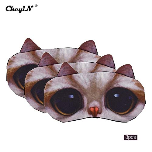Kreative Cartoon Anima Schlafmaske, gute Schattierung Stereo Eye Cover Schlafende Maske Reise Rest Eye Band, geeignet für Männer, Frauen und Kinder f