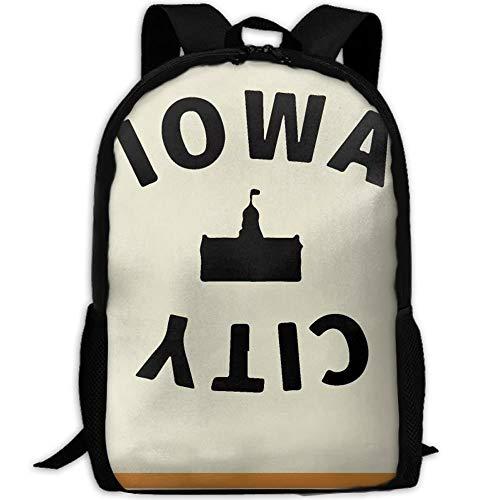 Iowa Mädchen (HOJJP Schultasche Iowa City School Backpack Set Canvas Teen Girls Bookbags Laptop Backpack Kids Lunch Tote Bag Clutch Purse)