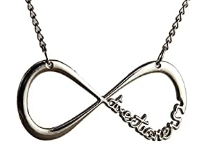 One Direction Silver Plated Infinity Pendant for Men and Women.