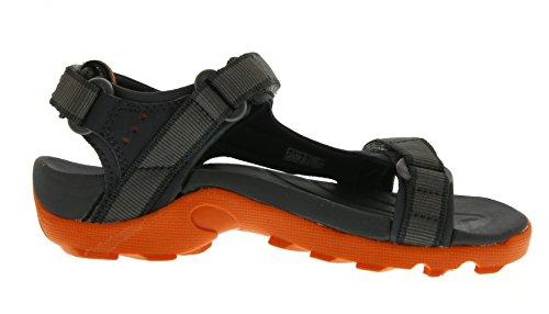 Teva Tanza C's Unisex-Kinder Sport- & Outdoor Sandalen, Grau (grey/orange 519), EU 35 -