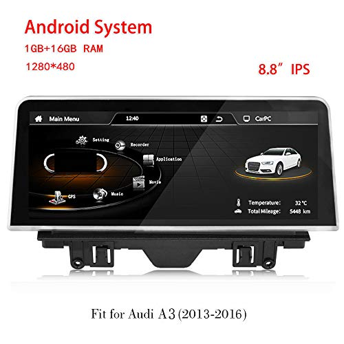 Freeauto per AUDI A3 2013-2018 Schermo da 8,8 pollici Android 4.4 Sistema di navigazione GPS Audi Audi Radio Player Media Stereo (Audi A3 2013-2016)