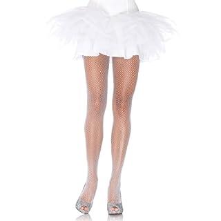 Leg Avenue 9012A - Glitter Fishnet Pantyhose, Einheitsgröße (Weißsilber)