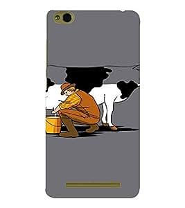 EPICCASE Cow milk Mobile Back Case Cover For Xiaomi 3S Prime (Designer Case)