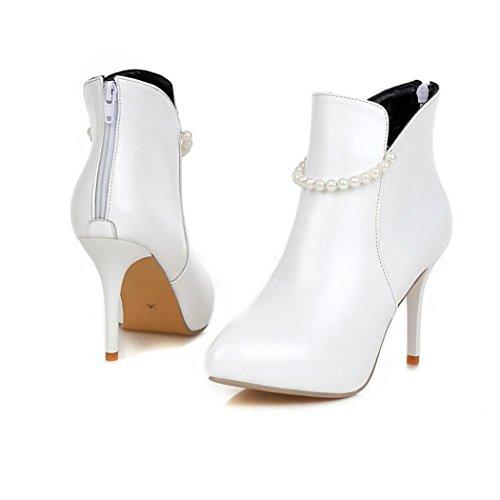 ZQ@QXSuggerimento della settimana per il sottile ed elegante e versatile codice postale dopo la nuda stivali Donna stivali White