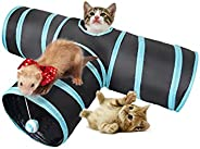 Mumoo Bear 3 Way Folding Hide and Seek Play Tunnel Toy For Pet Cat Puppy Kitty Kitten Rabbit