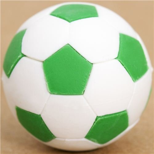 Iwako Cool Green And White Soccer Ball Eraser By by Iwako - Super Soccer Ball