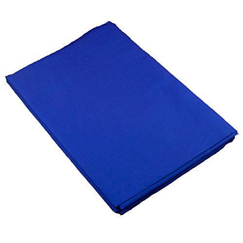 PhotoSEL BK11CU Tela de Fondo para Fotografía de Muselina y Pantalla Azul Croma de 2m ×3m