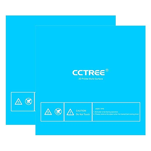 Price comparison product image CCTREE 3D Printer Build Surface with 3M Sticker3D Printer Heated Bed Sheet for Creality CR-10 S4 400 * 400mm (Pack of 2) Blue