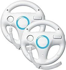 2 PCS Mario Kart Wii Lenkrad, Stoga Mario Kart Lenkräder Racing Wheel für Nintendo Wii, Racing Wheel für Wii U Racing Spiele (weiß)