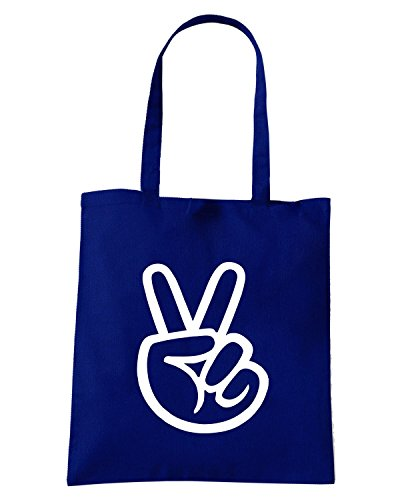 T-Shirtshock - Borsa Shopping FUN0323 040d peace sticker 06977 Blu Navy