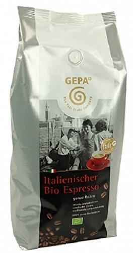 GEPA Italienischer Bio Espresso ganze Bohne 1 x 1000g