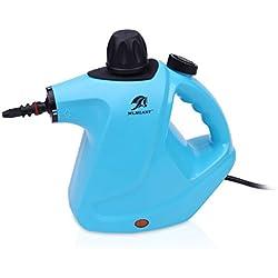 MLMLANT Multiuso Purificador Limpiador de Vapor presurizado de Mano 450ml Tanque de Agua,para la eliminación de Manchas, alfombras, Cortinas, Control de Errores de Cama, Asientos de Coche