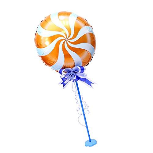 Dolity Windmühle Folie Ballon Kit mit Stick Standfuß Hochzeit Party Dekor - Orange, 18 Zoll