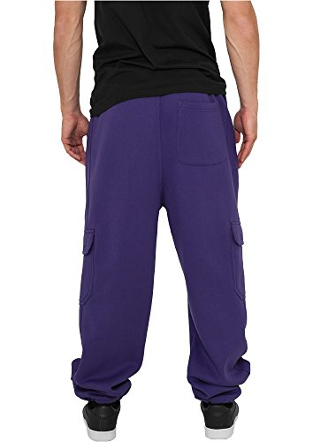 Urban Classics Herren Hose Cargo Sweatpants Purple