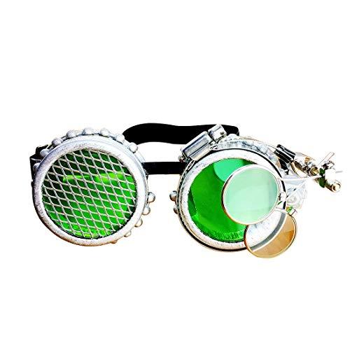 LINANNAV Steampunk viktorianischen Stil Cyber Goggles mit Kompass -